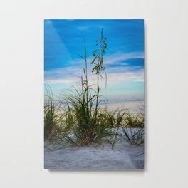 Nature Beach Grass Vertical Print Metal Print
