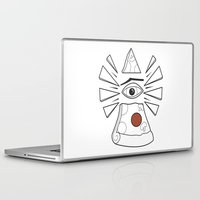 illuminati Laptop & iPad Skins featuring PizzaPizza Illuminati by Pete Fowler