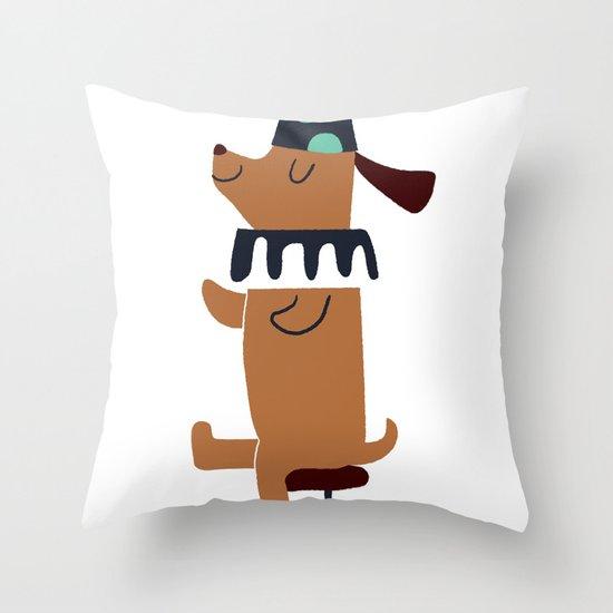 circus dog Throw Pillow