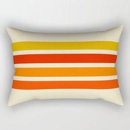 Abstract Minimal Retro Stripes 70s Style - Nagatane Rectangular Pillow