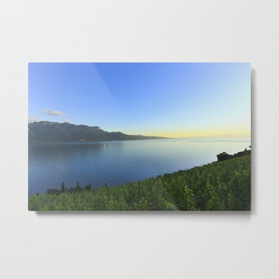 Sunset and Winery Metal Print