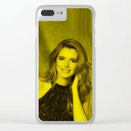 Bella Thorne - Celebrity (Florescent Color Technique) Clear iPhone Case
