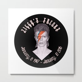 He Left Stardust and A Blackstar Behind Metal Print
