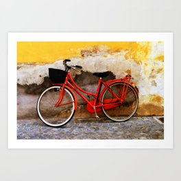 The Red Bicycle Art Print