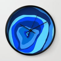 geode Wall Clocks featuring Geode by Sarah P