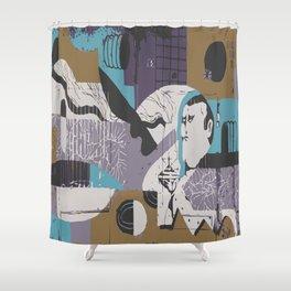 Modern Eclectic Elevated Elevating Emergent Emerging Emotional Emotionally Charged Enchanted Energy Shower Curtain