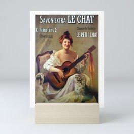 Le Savon. Vintage French Poster Mini Art Print