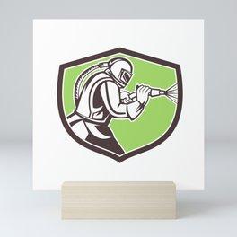 Abrasive Blasting Mascot Crest Mini Art Print