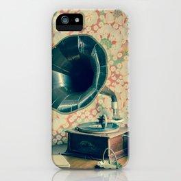 Vintage Antique Gramophone / Vinyl Record Player iPhone Case