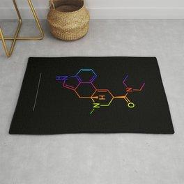 LSD color in black Rug