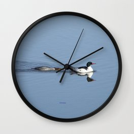 Mergansers on the Kenai Wall Clock
