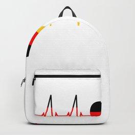 Berlin heartbeat skyline gift heart Germany Berlin T-Shirt Backpack