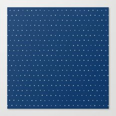 Geo Triangles Sea Canvas Print