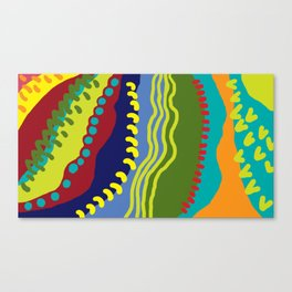 Colour Avalanche Canvas Print