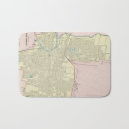 Vintage Map of Columbus Ohio (1901) Bath Mat