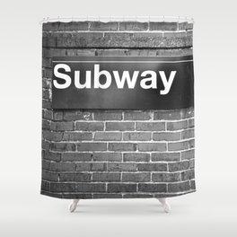 Subway Shower Curtain