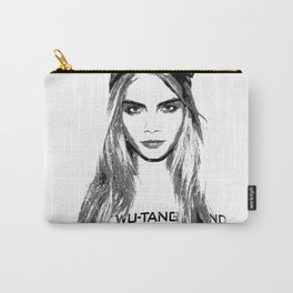 Cara Delevingne, playing with brushes. Carry-All Pouch