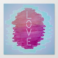 xoxo Canvas Prints featuring XOXO by Samantha Reichert