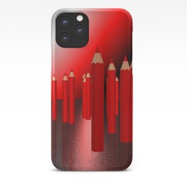 many red pencils iPhone Case