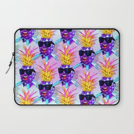 Pineapple Ultraviolet Happy Dude with Sunglasses Laptop Sleeve