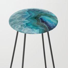Blue Aqua Agate Counter Stool