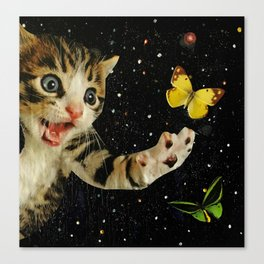 All Across the Universe Chasing Butterflies and Dreams Canvas Print