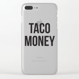 Taco Money Clear iPhone Case