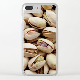 Roasted pistachio nuts Clear iPhone Case