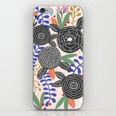 Black Botanical iPhone & iPod Skin