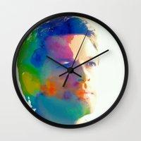 castiel Wall Clocks featuring Castiel  by mishainmydreams