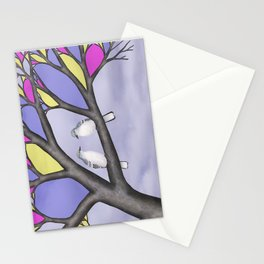 northern mockingbirds in the stained glass tree Stationery Cards