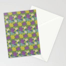 Green Bright Blooms Stationery Cards