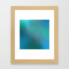 Trinity Pattern (ocean blues) Framed Art Print