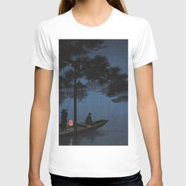 Boat with Lantern Beneath Shubi Pine T-shirt