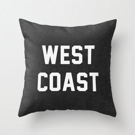 West Coast - black version Throw Pillow
