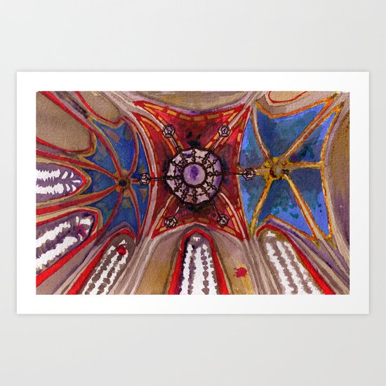 Ceiling o' joy Art Print