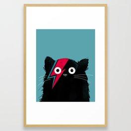 Cat Hero Framed Art Print