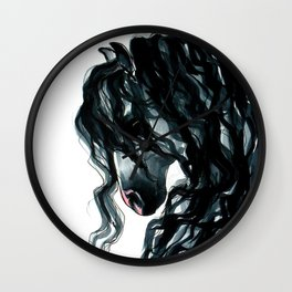 Andalusian Horse Portrait Wall Clock