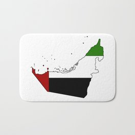 United Arab Emirates UAE Map with Flag Bath Mat
