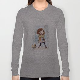 Walk in Quebec city with Marty Woof-Woof Long Sleeve T-shirt
