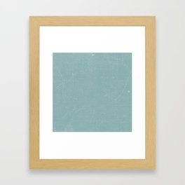 White and Green Old School GreenBoard Framed Art Print