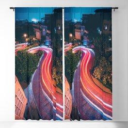 San Francisco Lombard Street Blackout Curtain