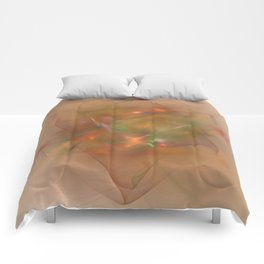 Folds In Muted Rainbow Comforters