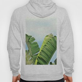 Frayed Palm Fronds Against Blue Sky Hoody