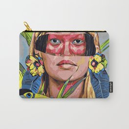 Amazonas woman with toucan Carry-All Pouch