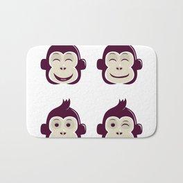 baby monkey Bath Mat