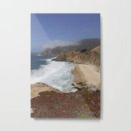 Crashing Waves - California Coast Metal Print