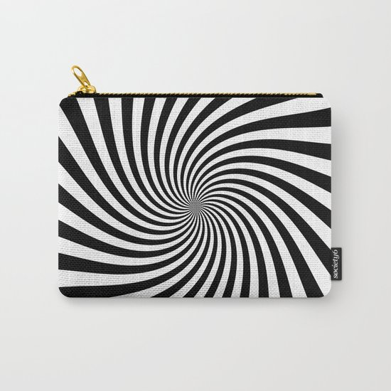 Swirl (Black/White) Carry-All Pouch