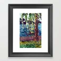 Willows at Lutry Framed Art Print
