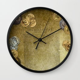 Ancient Latin Report re Roman British Isles Wall Clock